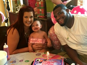 Tavon Rooks and Molly Viger celebrate Londyn's birthday on Sept. 5, 2015. (Courtesy of Molly Viger)